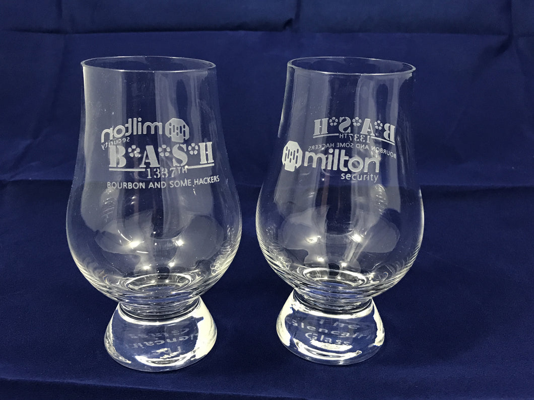 Milton Security BASH Glencairn Whiskey/Bourbon Glass
