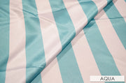 "2"" Satin Stripe - Chair Sash, Aqua, Lgi Linens"