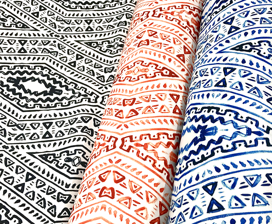 Aztec Print (Dupioni) - Table Runners