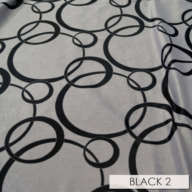 Cirque Jacquard (Reversible) - Table Runners, Black, LGi Linens