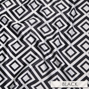Paragon Print Lamour - Table Napkins, Black, LGi Linens