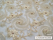 Jasmine Lace - Table Runners, Champagne, LGi Linens
