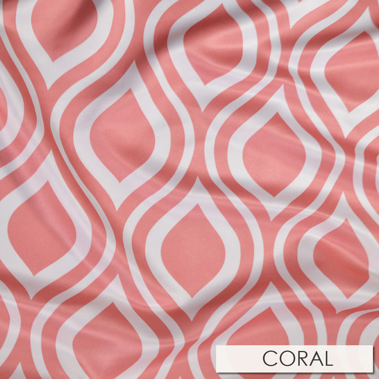 Groovy Print (Lamour) - Table Linens, Coral, LGi Linens
