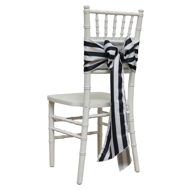 "1"" - 4"" Lamour Stripe - Chair Sash"