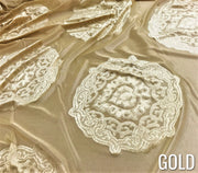 Medallion Jacquard - Table Linens, Gold, LGi Linens