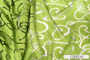 Contempo Scroll Sheer - Table Linens, Green, LGi Linens
