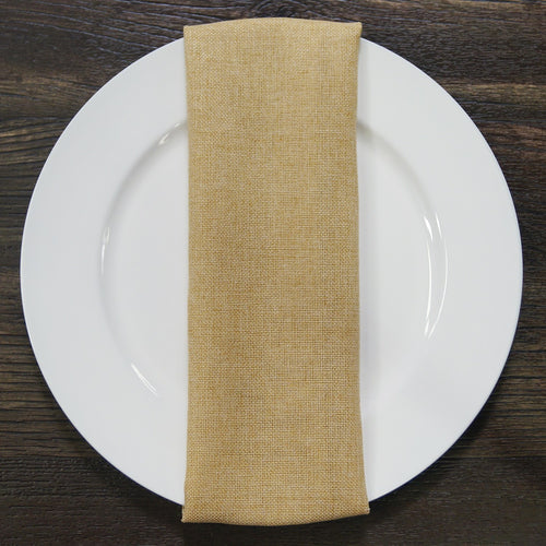 Imitation Burlap (Hem Stitch) - Table Napkins