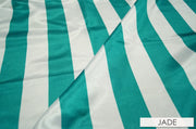 "2"" Satin Stripe - Chair Sash, Jade & White Lgi Linens"