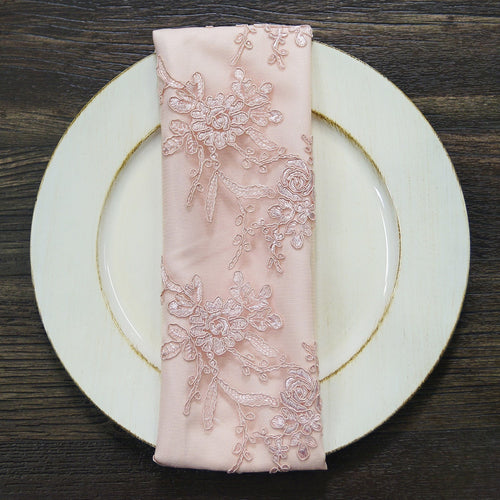 Laylani Lace (w/ Poly Lining) - Table Napkins