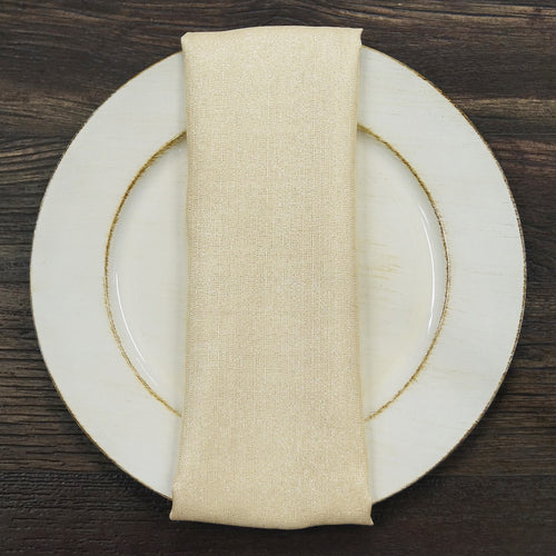 Metallic Burlap - Table Napkins