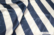 "2"" Satin Stripe - Chair Sash, White & Navy, Lgi Linens"