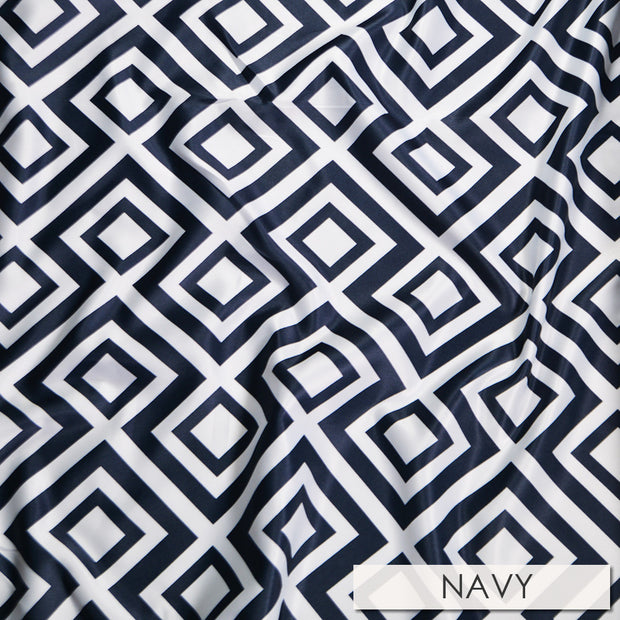 Paragon Print Lamour - Table Napkins, Navy, LGi Linens