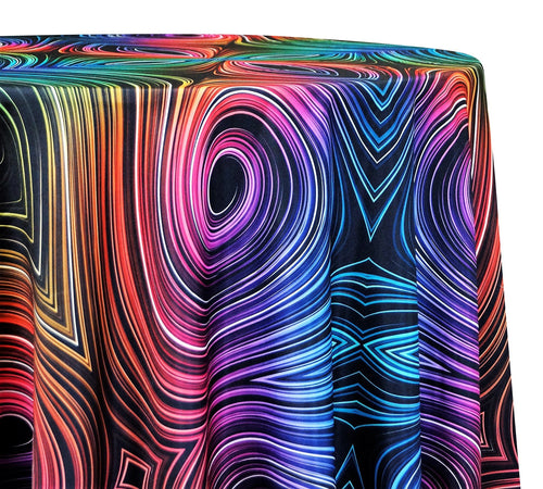 Neon Abstract Poly Print - Table Linens
