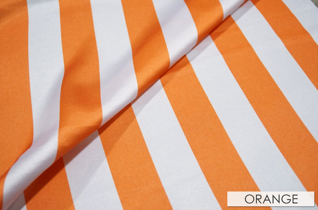 "2"" Satin Stripe - Chair Sash, White & Orange, Lgi Linens"