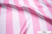 "2"" Satin Stripe - Chair Sash, White & Pink, Lgi Linens"