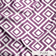 Paragon Print Lamour - Table Napkins, Plum, LGi Linens