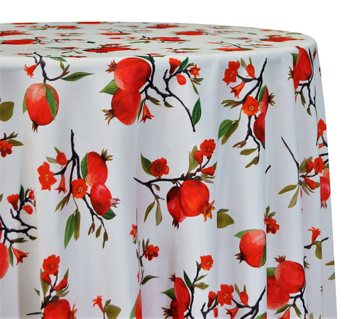 Pomegranate Poly Print - Table Linens