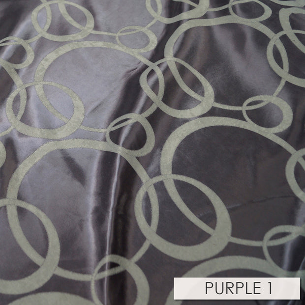 Cirque Jacquard (Reversible) - Table Runners, Purple, LGi Linens