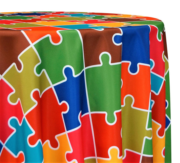 Puzzle Poly Print - Table Linens