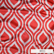 Groovy Print (Lamour) - Table Linens, Red, LGi Linens