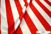 "2"" Satin Stripe - Chair Sash, White & Red, Lgi Linens"
