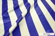 "2"" Satin Stripe - Chair Sash, White & Royal, Lgi Linens"