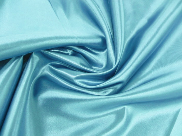 Bridal Satin - Chair Sash, Aqua, LGi Linens