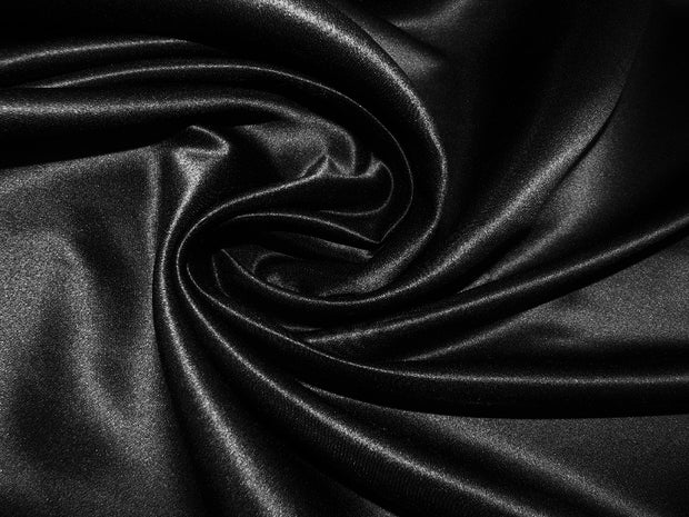 Bridal Satin - Table Napkins, Black, LGi Linens