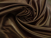 Bridal Satin - Table Napkins, Brown, LGi Linens