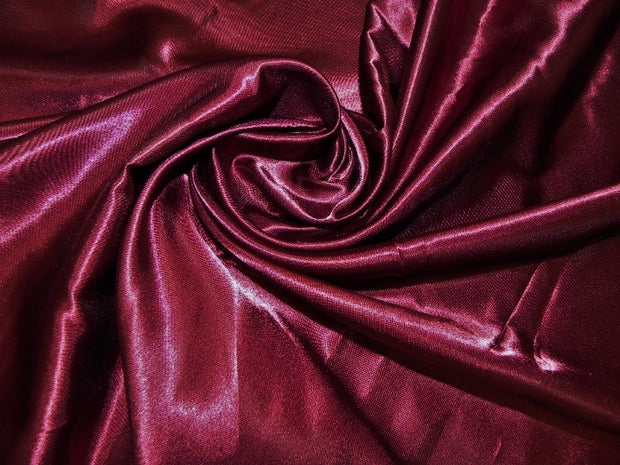 Bridal Satin - Chair Sash, Burgundy, LGi Linens