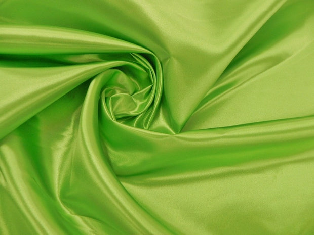 Bridal Satin - Table Napkins, Lime, LGi Linens