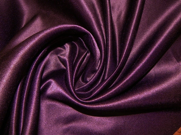 Bridal Satin - Table Napkins, Plum, LGi Linens