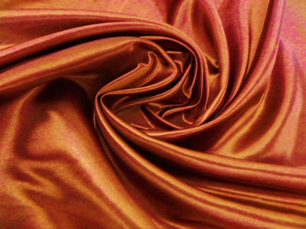 Bridal Satin - Table Napkins, Rust, LGi Linens