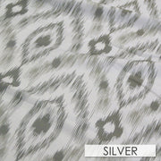 Cosmo Print (Dupioni) - Table Runners, Silver, LGi Linens