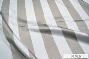 "2"" Satin Stripe - Chair Sash, White & Silver, Lgi Linens"