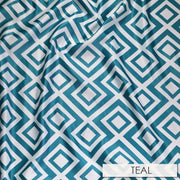 Paragon Print Lamour - Table Napkins, Teal, LGi Linens
