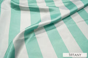 "2"" Satin Stripe - Chair Sash, White & Tiffany, Lgi Linens"