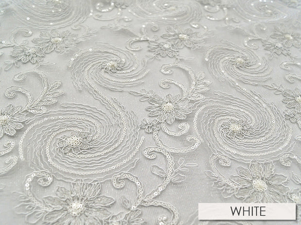 Jasmine Lace - Table Runners, White, LGi Linens