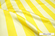 "2"" Satin Stripe - Chair Sash, White & Yellow, Lgi Linens"