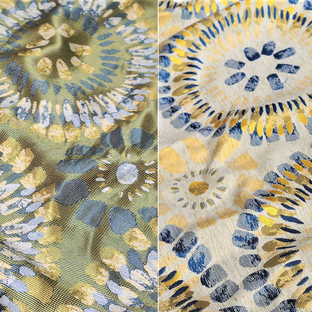 Sundance Jacquard - Table Napkins, Yellow/Blue, LGi Linens