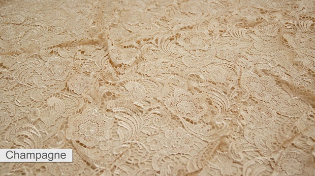 English Lace - Table Linens, Champagne, LGi Linens