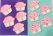 AGD 10218 Cupcake Number puzzle