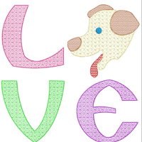 AGD 10708 LOVE DOG