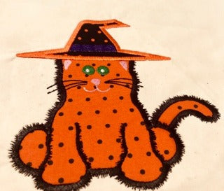 AGD 10020 Halloween Cat Applique