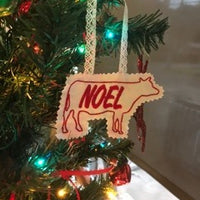 AGD 10084 Cow Ornament