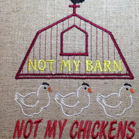 AGD 2836 Not My Barn - Chickens