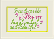 AGD 3048 Friends are like Flowers Mug Rug/Snack Mat
