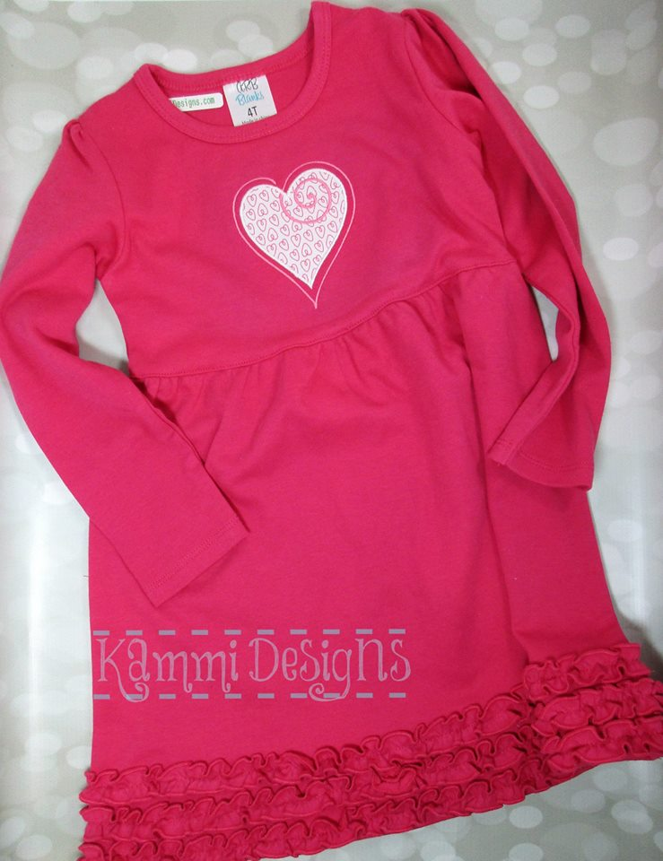 AGD 6016 Swirly Heart Applique