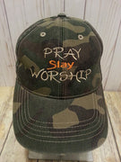 AGD 7026 Pray Slay Worship Hat File