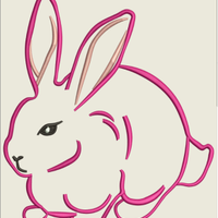 AGD 7080 Bunny Outline